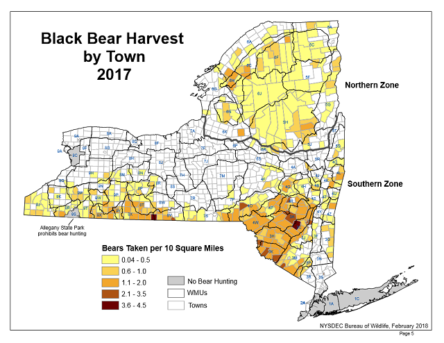 DEC Announces 2017 Bear Harvest Results; Sharp Decrease in ...