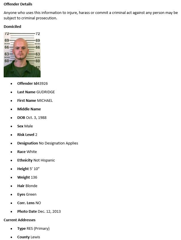 nys dcjs sex offender registry in Bathurst