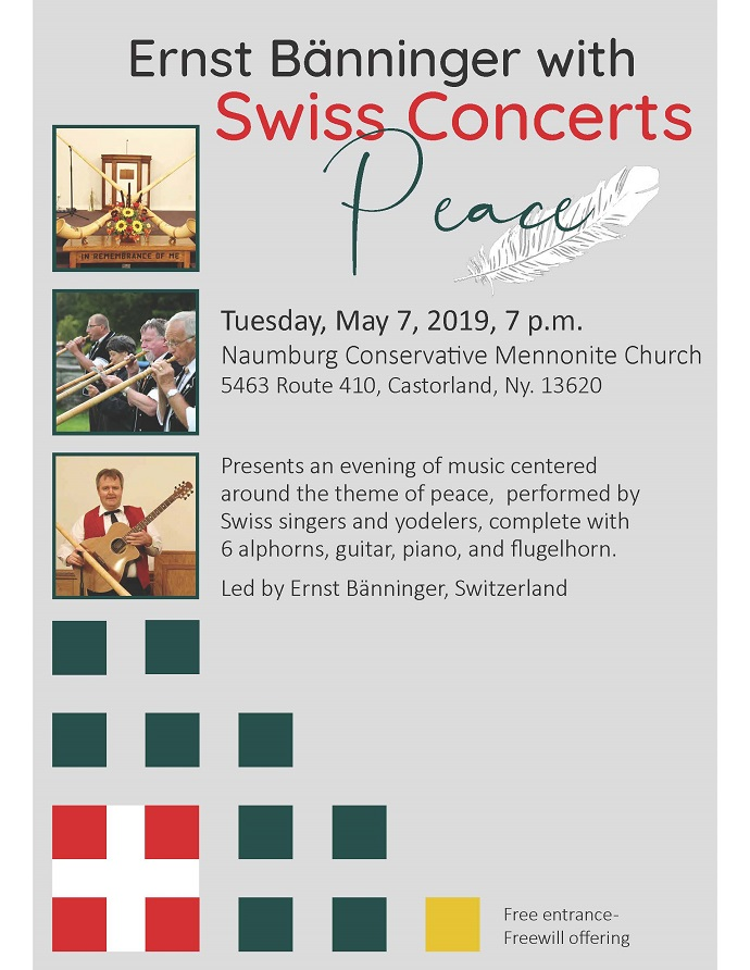 Naumburg Conservative Mennonite Church Presents Swiss