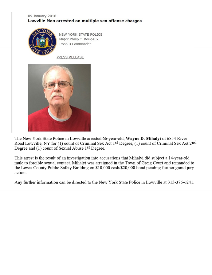 Grand Jury Hands Down 9-Count Indictment to Lowville Man Accused of